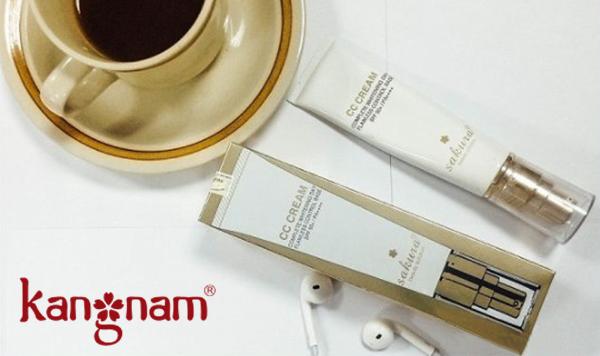 cách dùng kem trang điểm CC Cream Sakura