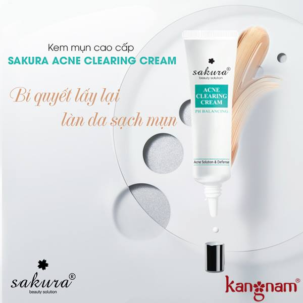 lưu ý khi sử dụng kem trị mụn sakura tốt nhất