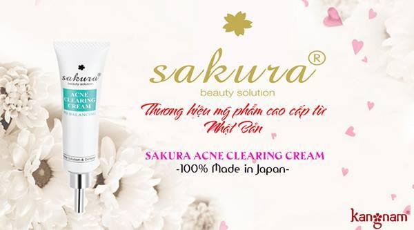 công dụng kem trị mụn sakura tốt nhất